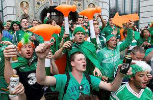 Locals in Poznan are planning a party this afternoon to say goodbye and thank you to the Irish fans