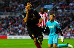 On target: Luis Suarez. Photo: Getty Images