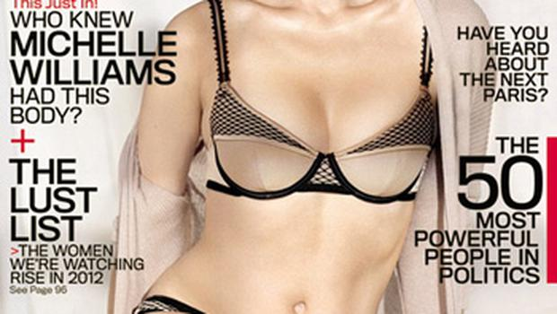 Michelle Williams appears on the cover of GQ magazine
