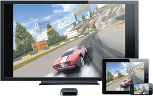 Driving force: games can be beamed on to your television