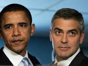 US President Barack Obama with George Clooney. Photo: Getty Images