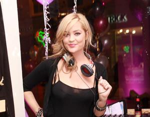 MTV Dj Laura Whitmore was pictured at A wear's 25th Birthday celebrations in their store on Grafton St. ***NO REPRO FEE**Photography; Conor Healy Photography