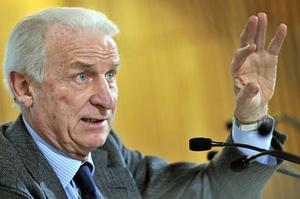 Ireland boss Giovanni Trapattoni answers questions at yesterday's press conference. Photo: David Maher / Sportsfile