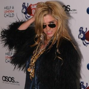 Ke$ha has stormed to the top of the UK singles chart