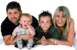 The Smith family (left - right) Richard, Aaron, Ben, and Clair whose bodies were found at their home on Sunday