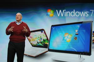 Steve Ballmer is said to have met with Adobe's CEO. Photo: Getty Images