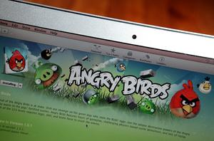 'Angry Birds' displayed on a laptop. Photo: Getty Images