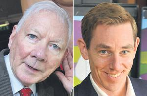 Original 'Late Late Show' host Gay Byrne, left, will head up a cast of stars when Ryan Tubridy hosts tonight's tribute