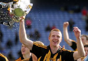 Kilkenny's Henry Shefflin celebrates with the Liam MacCarthy Cup in 2011