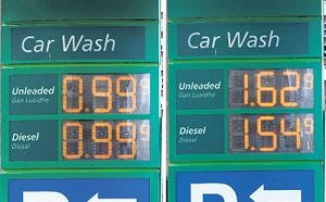Fuel prices were raised again later