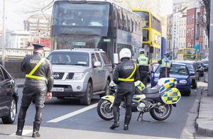 The cut-price fuel caused a long tailback of traffic on Usher's Quay in Dublin
