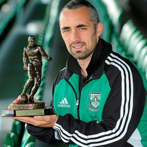 Gary Dempsey of Bray Wanderers, who has been voted Airtricity/SWAI Player of the Month for April
