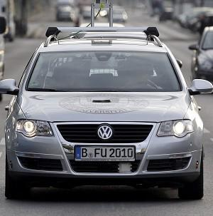 A driverless car on the streets of Berlin