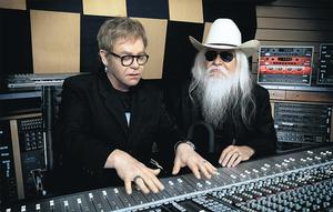 Elton with Leon Russell, with who Elton has collaborated on the country, blues and gospel-tinged The Union