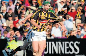 Henry Shefflin returned to inter-county hurling last night for the first time since limping off in last year's All-Ireland final. Photo: Pat Murphy