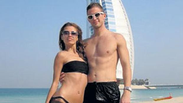 Alexander Smurfit, son of Dr Michael Smurfit and heir to the Smurfit fortune, with his then Russian TV-star girlfriend Victoria Bonya in Dubai