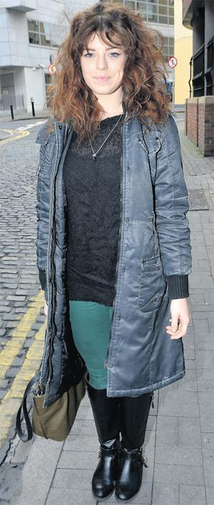 Aoibhinn McGinnity, who starts filming season four of 'Love/Hate' next month, pictured outside the Today FM studios in Dublin