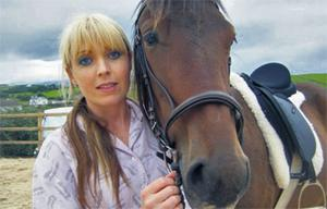 Liz Potter with her horse Clyde