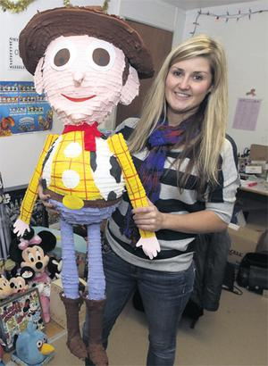 Lisa Kenna with a toy from 'The Late Late Toy Show'