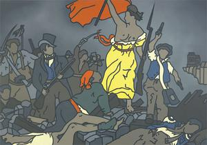 'Liberty on the Barricades (After Delacriox)' by Robert Ballagh