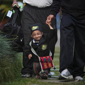 Nepal's Khagendra Thapa Magar is only 25.8 inches tall (AP)