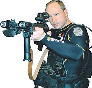A picture of killer Anders Behring Breivik from his manifesto