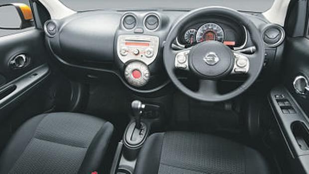 The interior of the new Nissan Micra.
