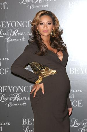 Beyonce shows off her bump in November. Photo: Getty Images