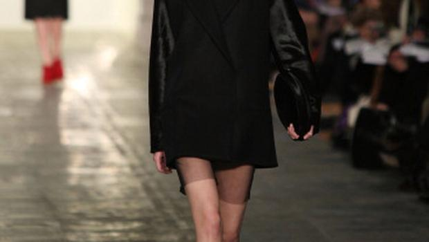 LONDON, ENGLAND - FEBRUARY 22:  A model walks the runway at the Fashion East Show as part of the Simone Rocha collection  at London Fashion Week Autumn/Winter 2011 at TopShop Venue on February 22, 2011 in London, England.  (Photo by Tim Whitby/Getty Images)
