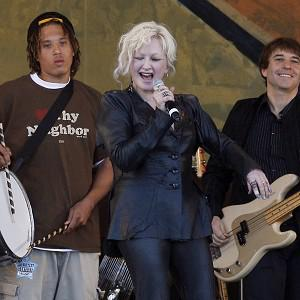 Cyndi Lauper was delighted to play at the famous jazz festival