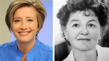 Emma Thompson and, right, the author Pamela Travers