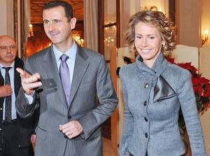 Bashar al-Assad and his wife, Asma, are portrayed as being oblivious to the violence in their country. Photo: Getty Images