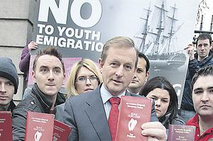 Taoiseach Enda Kenny with members of Young Fine Gael