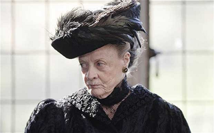 "Dame Maggie Smith as the Dowager Countess: ""She's tricky on the set, but she delivers when the time comes."""