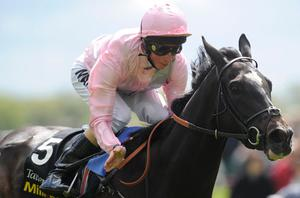 William Buick riding The Fugue win The Tattersalls Musidora Stakes at York racecourse on May 16, 2012 in York, England. Photo: Getty Images