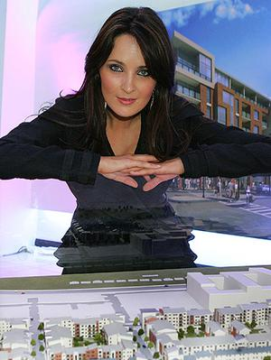 Andrea Roche at the launch of phase two of the Belmayne development back in 2007