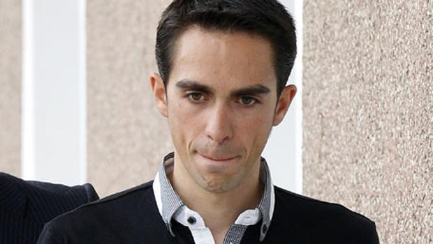 Contador: back in the saddle today. Photo: Reuters