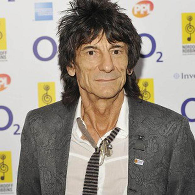 Ronnie Wood's artwork will be shown at an exhibition
