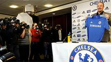 Rafael Benitez addresses the media after being unveiled as Chelsea's new interim manager at Stamford Bridge