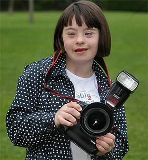 Julie O'Brien,12, from Dublin, at the launch of the I'm Able 2 Model agency. Photo: PA