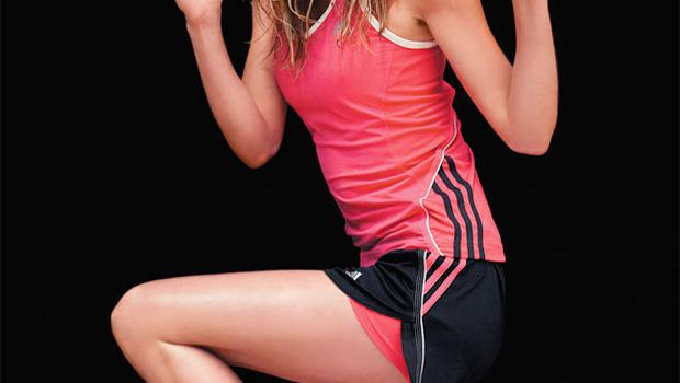 Tank top, €28; shorts, €22; trainers, €75; socks, €8 for pack of three, all Adidas