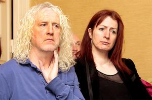 Mick Wallace and his political ally Clare Daly. Photo: Tom Burke