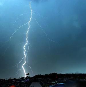 Lightning has struck at a US military training base