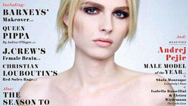 Andrej Pejic on the cover of New York