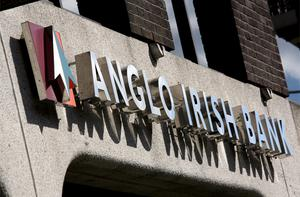 Irish financials remain weighed down by concerns over their funding, with Anglo's confrontation with subordinated bondholders making some holders of other debts in the Irish banks nervous. Photo: Bloomberg News