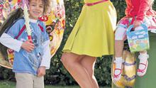 Roz Purcell launches Repak's Easter recycling campaign with Dillon Shinbach (6) and Isobel Deegan (7) at the Botanic Gardens in Dublin yesterday