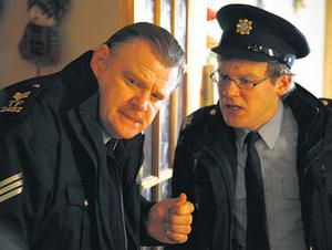 Brendan Gleeson with his son Brian in a scene from the movie 'Noreen'.