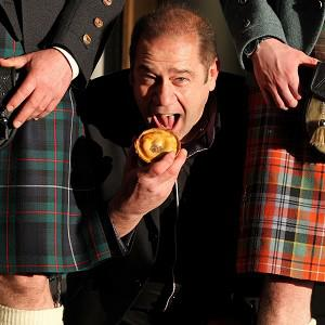 World Scotch Pie winner Maurice Irvine from Irvine Baker in Beith celebrates being named World Scotch Pie winner 2010