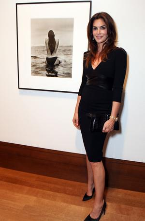 Cindy Crawford poses during the 'Herb Ritts: L.A. Style' preview and reception to celebrate the opening of the exhibition held at the J. Paul Getty Museum on April 2, 2012 in Los Angeles, California.