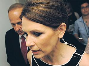 Republican US presidential candidate Michele Bachmann pictured in Washington last week